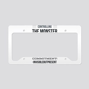 Controlling the monster © License Plate Holder